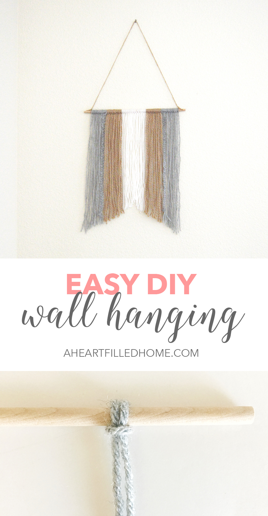 Easy Diy Wall Hanging A Heart Filled Home Diy Home