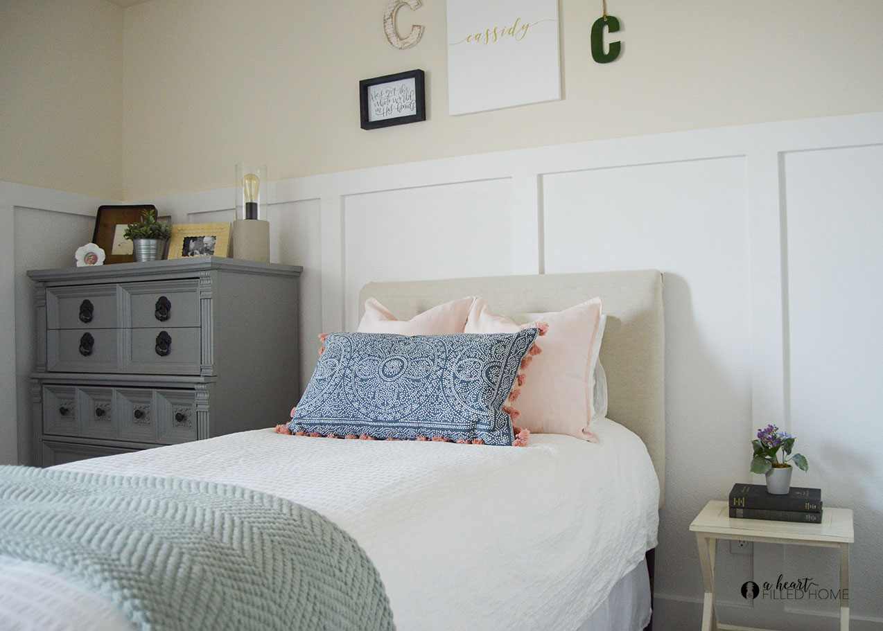 From Junk Room To Beautiful Bedroom The Big Reveal: Modern Farmhouse Girl's Bedroom Reveal + ORC Week 6