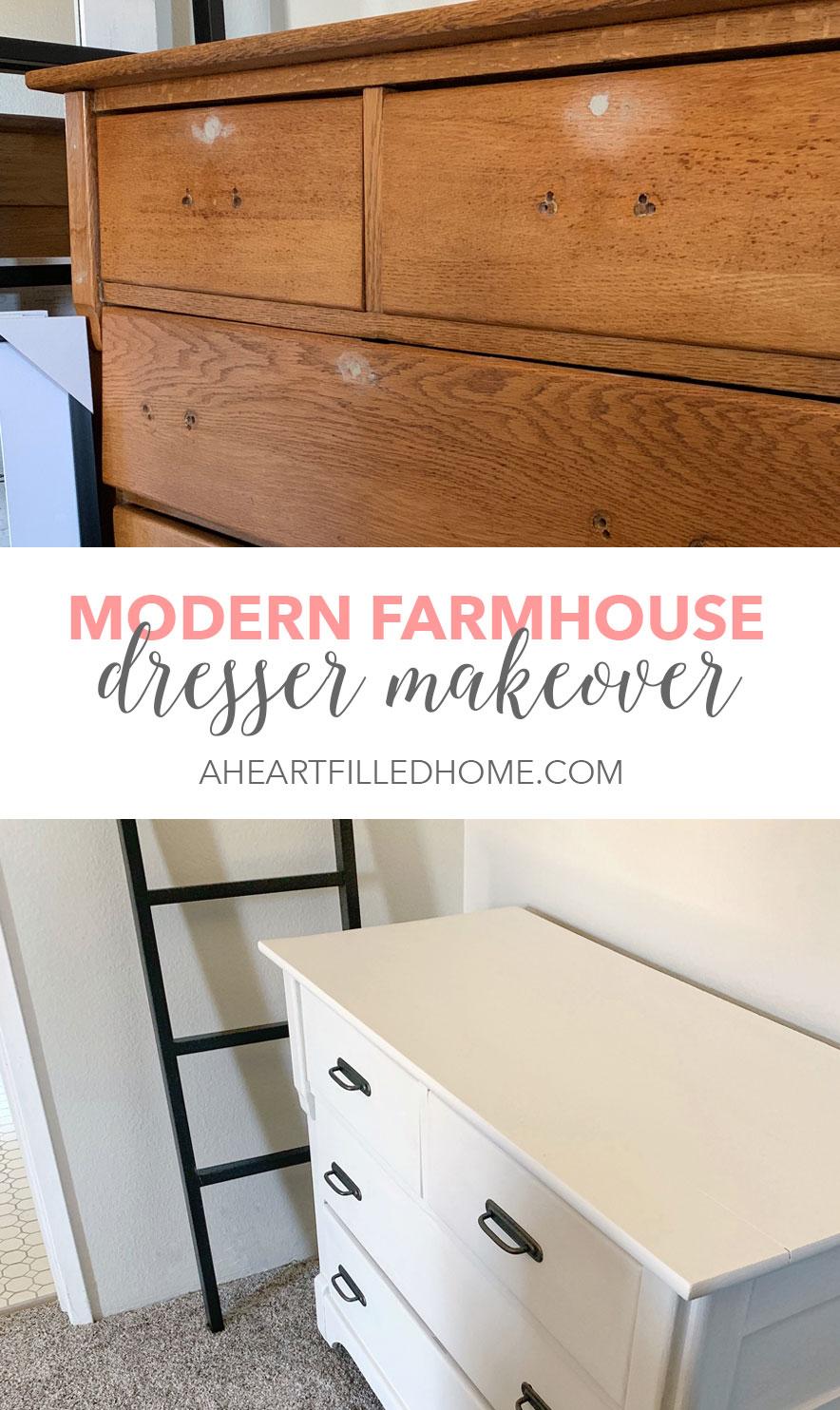 Modern Farmhouse Dresser Makeover A Heart Filled Home Diy Home Decor