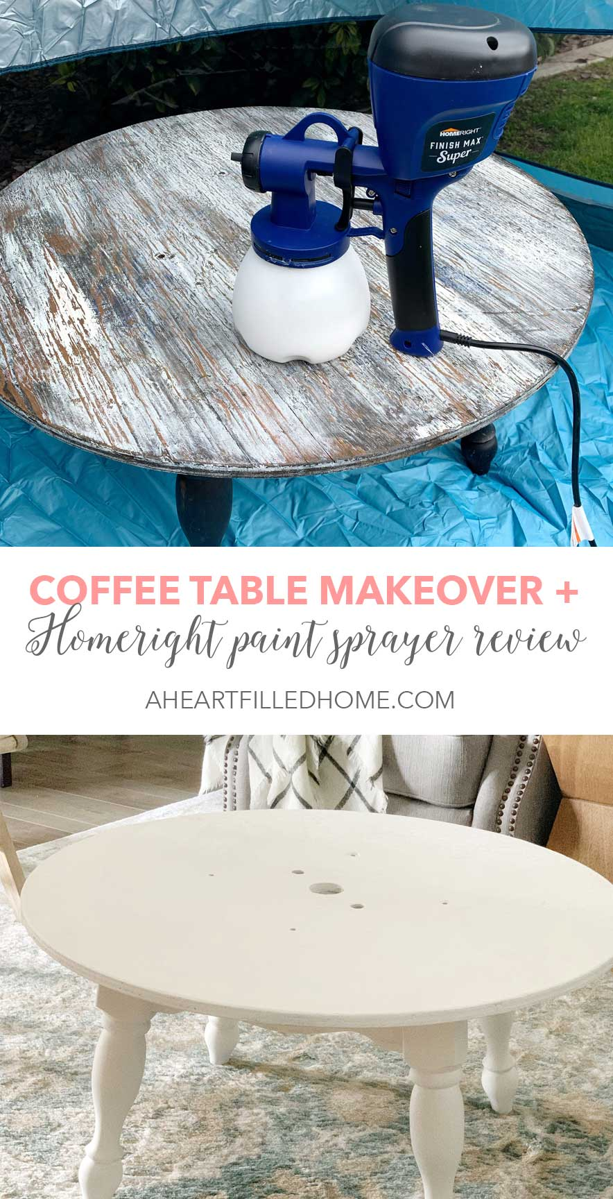 Coffee Table Makeover Homeright Paint Sprayer Review A